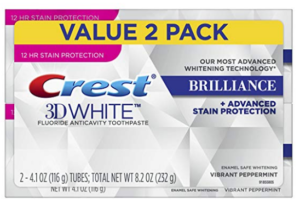Crest 3D White Brilliance Vibrant Peppermint Toothpaste