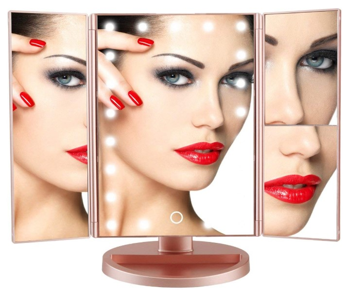 DeWEISN lighted makeup mirror