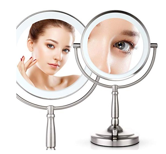Miusco 7X lighted makeup mirror